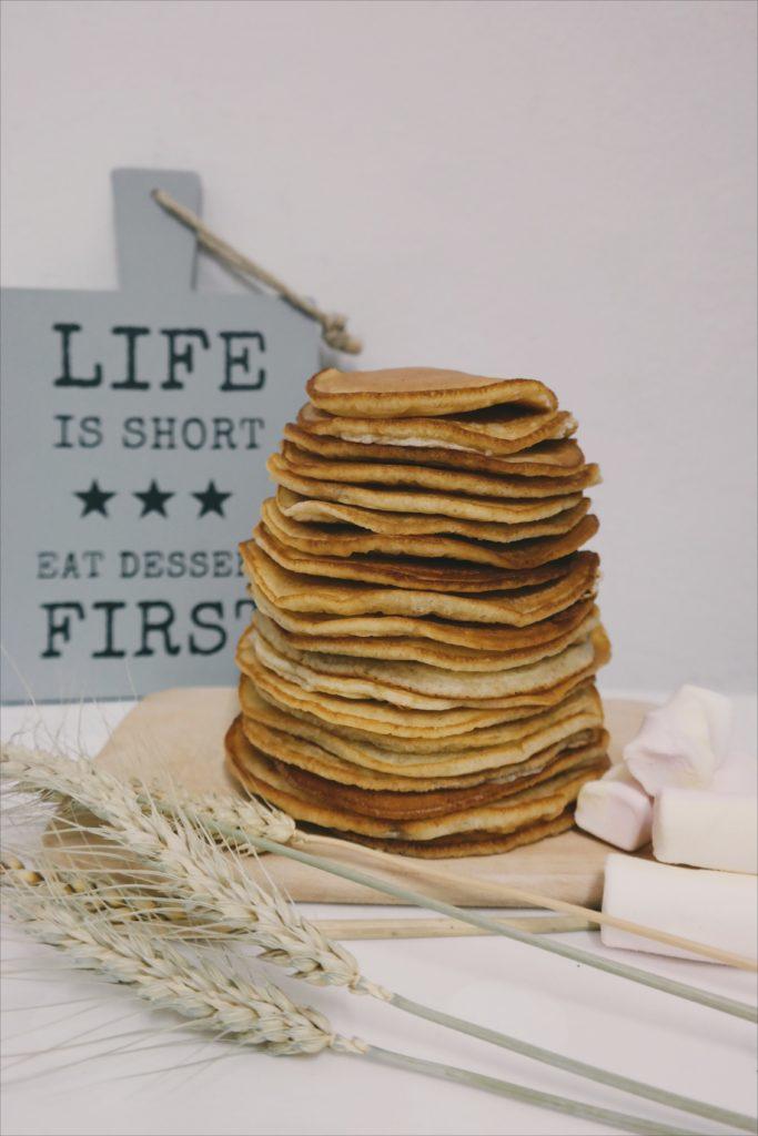 Pancakes. Ein leckeres Frühstück.