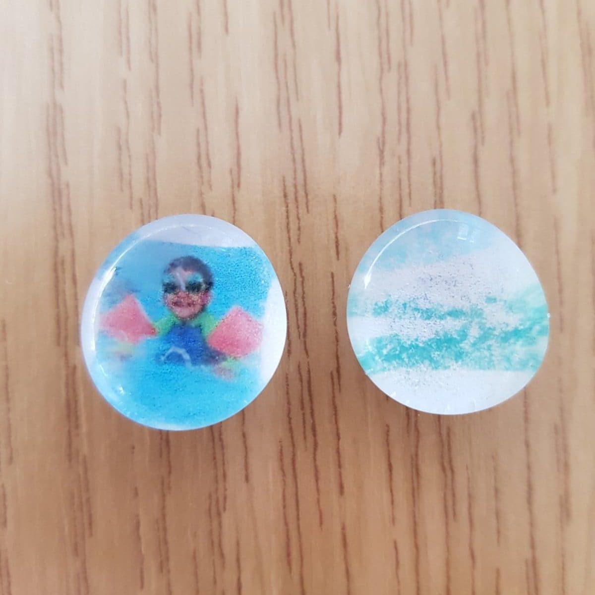 Zum Muttertag passen die süssen Magnete mit Fotos wunderbar.